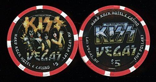 5ハードロックKissライブ@ハードロック「Kiss Rocks Vegas ` uncirculatedラスベガスカジノチップ