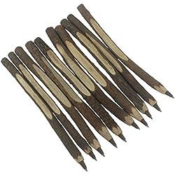Gullor 10PCS Personalized Ballpoint Pen Real Wooden Pen, Tree Branch Pen, Twig Pen, Wedding Guest Book
