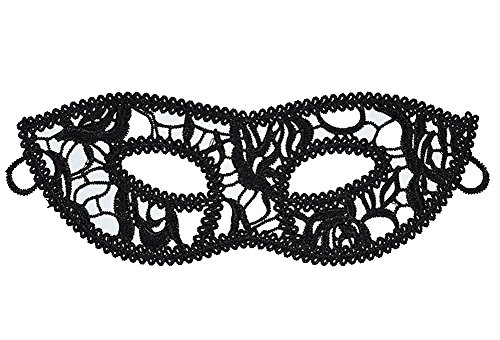 Eye St7 - MayBest Lace Masquerade Mask Venetian Eyemask Women Sexy Eye Mask for Halloween Carnival Party Costume Ball Black Red Butterfly Fox Love Props Style 07 One Size