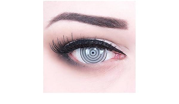 funnylens un par de colores Grey 17 mm Crazy FUN rinnegan Eye Año Diseño lente. Perfección a Halloween, carnaval, o fasnacht con Gratis Contacto lente ...