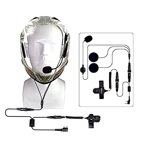 Price comparison product image LIYUDL Full Face Close Helmet Motorcycle Earpiece Headset For Baofeng UV5R UV-B5 Radio