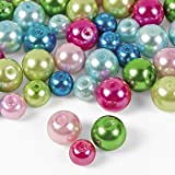 Bright Pearl Bead Assortment - 6mm-8mm - Beading Supplies & Beads