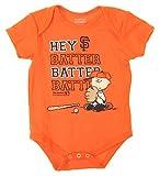 MLB San Francisco Giants Baby Boys Infants Peanuts Love Baseball Creeper, Orange