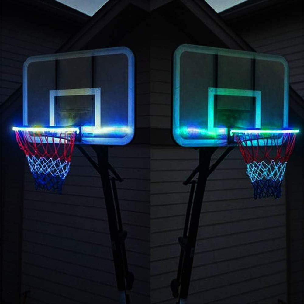 luz de acci/ón de iluminaci/ón luz Solar LED ZJYX Canasta de Baloncesto con luz LED Luces de Canasta de Baloncesto Ideal para ni/ños y Adultos Canasta de Baloncesto
