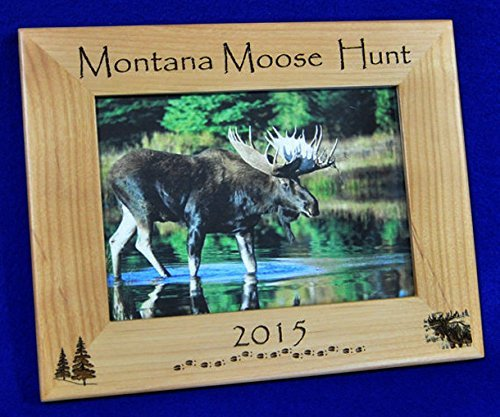 Moose Hunting ~ Moose Hunting Picture Frame ~ Moose Hunting Gifts ~ Custom Frames ~ Moose ~ Montana Hunting ~Moose Hunting ~ Hunting Frame ~ Hunting Gift ~ Gift For ()
