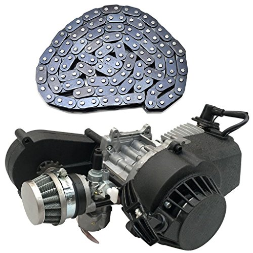 WPHMOTO 2 Stroke Engine Motor with Gear Box and 116L T8F Chain for 47cc 49cc 50cc Mini Pocket Bike Gas G-Scooter ATV Quad Bicycle Dirt Pit Bikes