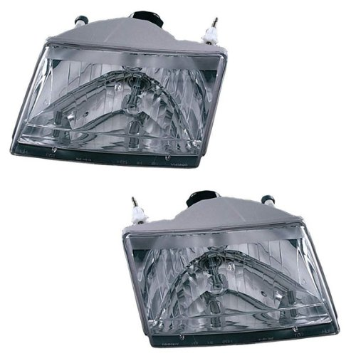 2001-2010 Mazda Pickup Truck B-Series B2300 B2500 B3000 B4000 Headlight Headlamp Halogen Composite Front Head Light Lamp Pair Set Right Passenger AND Left Driver Side (01 2001 02 2002 03 2003 04 2004 05 2005 06 2006 07 2007 08 2008 09 2009 10 2010)
