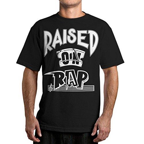 Herren T-Shirt FAMOUS STARS & STRAPS - Raised On Rap - Black L