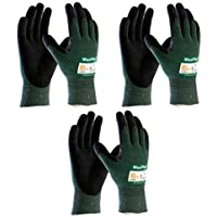 MaxiFlex Cut 34-8743 Cut Resistant Nitrile Coated Work Gloves with Green Knit Shell and Premium Nitrile Coated Micro-Foam Grip on Palm & Fingers. Sizes S-XL (Medium) by Maxiflex