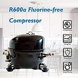 costway 2 door compact refrigerator 32 cu ft unit small freezer cooler fridge gray
