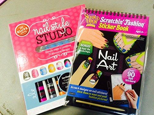 Klutz Nail Art Studio And Scratch Magic Nail Art Combo Kit Buy