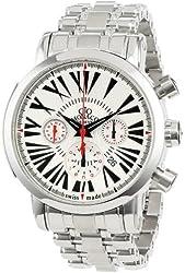 Gio Monaco Men's 268-S Maranello Automatic White Dial Steel Chronograph Watch