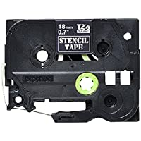 """Brother Mobile Solutions STE141 18mm (0.7"""") Stencil Tape for P-touch 3M (9.8 Ft)"""