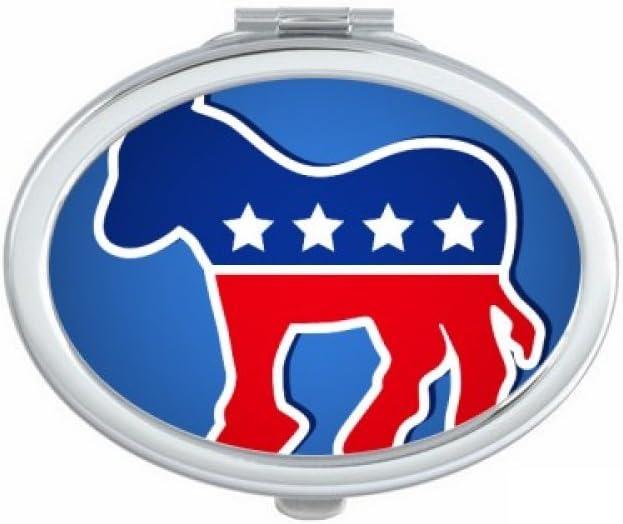 Espejo de bolsillo compacto para maquillaje con diseño de donkey de Estados Unidos, ideal como regalo: Amazon.es: Hogar