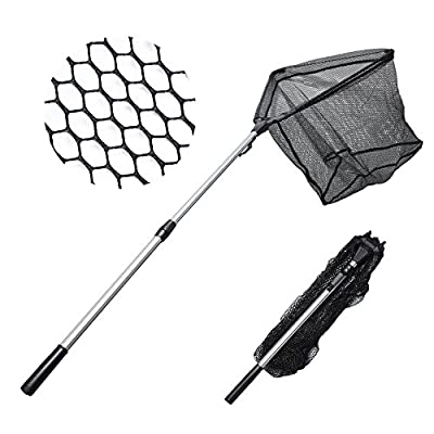 MadBite Fishing Net Safe Catch & Release Fish Landing Net, Foldable, Telescoping – Durable, Strong Yet Light Weight