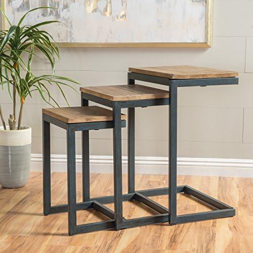 Best ottoman chair: Christopher Knight Home Savannah Fir Nesting Tables