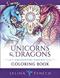Unicorns and Dragons - Enchanting Fantasy Coloring Book (Fantasy Coloring by Selina)