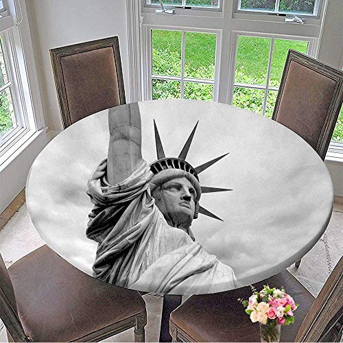 Modern Version Statue - Mikihome Modern Table Cloth Photo of The Statue of Liberty in New York City Black and White Version. Indoor or Outdoor Parties 63