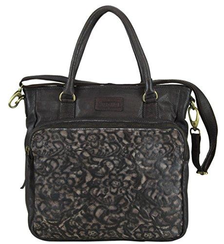 6deb8d78d8d186 Sunsa Damen Ledertasche Umhängetasche Handtasche Crossbody Shoper  Schultertasche