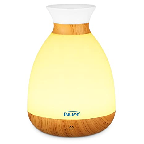 Inlife Led Night Light 2 In 1 Vase Table Lamp Nursery Light With