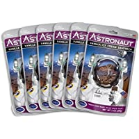 Astronaut Foods Freeze-Dried Ice Cream Sandwich, NASA Space Dessert, Vanilla, 6 Count