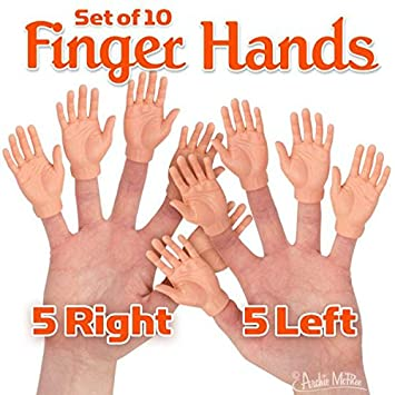 02a5844d9 Amazon.com: Accoutrements Set of Ten Finger Hands Finger Puppets: Toys &  Games