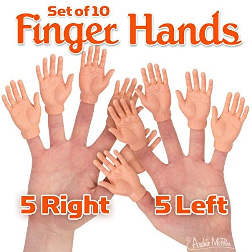Accoutrements Set of Ten Finger Hands Finger Puppets -