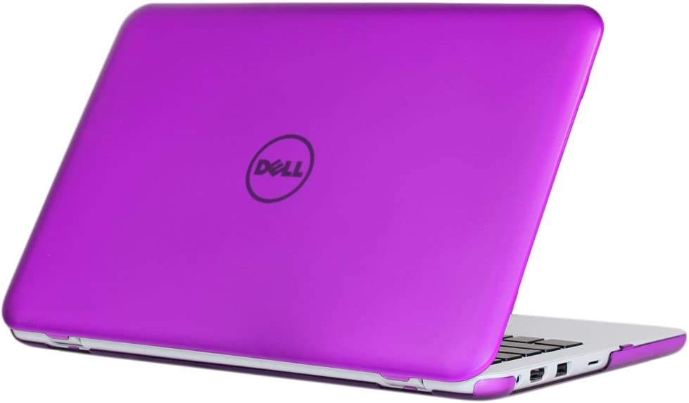 """iPearl mCover Hard Case for 11.6"""" Dell Inspiron 11 3162/3164 Series (Released After Dec. 2015, NOT Compatible with Older 3137/3138 and 3147/3148 2-in-1 Series) 3162/3164 Laptop (Purple)"""