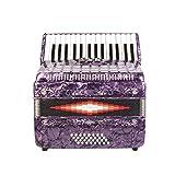 Rossetti Piano Accordion 32 Bass 30 Piano Keys 3 Switches Purple