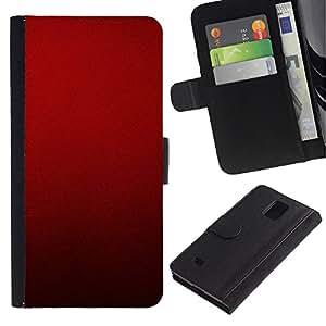 All Phone Most Case / Oferta Especial Cáscara Funda de cuero Monedero Cubierta de proteccion Caso / Wallet Case for Samsung Galaxy Note 4 IV // Blood Deep Red Crimson Light