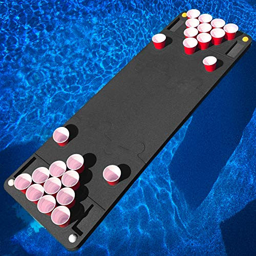 Polar Whale Floating Beer Pong Table Pool Party Float Game and Lounge Durable Foam 6 Feet Long UV Resistant Made in USA