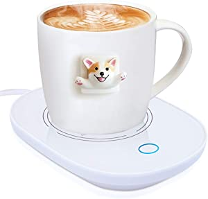 YEAILIFE Coffee Cup Warmer for Desk with Auto Shut Off, Tea Mug Warmer for Office Home Desk Use, Coffee Warmer Plate, Cup Warmer for Coffee, Milk, Tea, Water