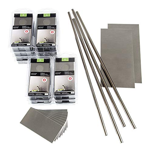 - Aspect Peel and Stick Backsplash 3in x 6in Brushed Stainless Long Grain Metal Tile 15 Sq Ft Kit for Kitchen and Bathrooms