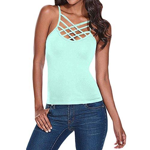 Jessica CC Women' s Spaghetti Strap Tank Top Camis Basic Camisole Shirts (Camisoles Mint)