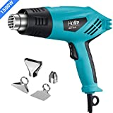 Heat Gun, PICTEK Hot Air Gun Dual Temperature 662℉-1022℉(350℃-550℃) 1500W with Four Nozzle Attachments, Over-Load Protection for Crafts, Shrink Wrapping, Removing Paint