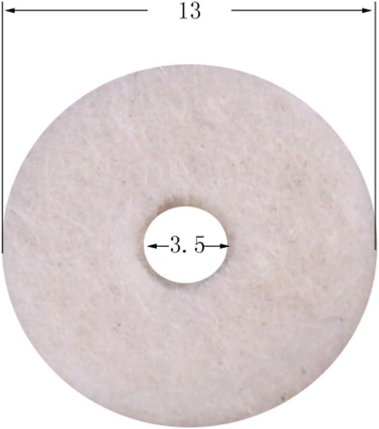Practical 50Pcs White /& Black Felt Guitar Strap Locking Washers Cushion