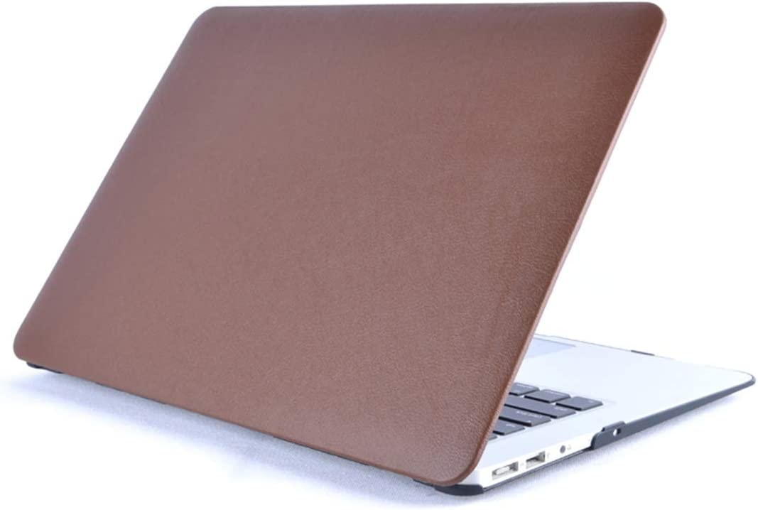 Simple Modern Multifunctional meet different needs Laptop PU Leather Paste Case for MacBook 12 inch A1534 Color : Brown 2015-2017 ,All buttons and ports are easy to access. Black