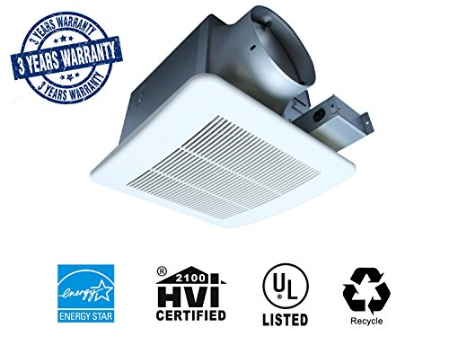 Akicon Ultra Quiet Ceiling Mounted Energy Star Rated Ventilation Fan Bathroom Exhaust Fan (110CFM)