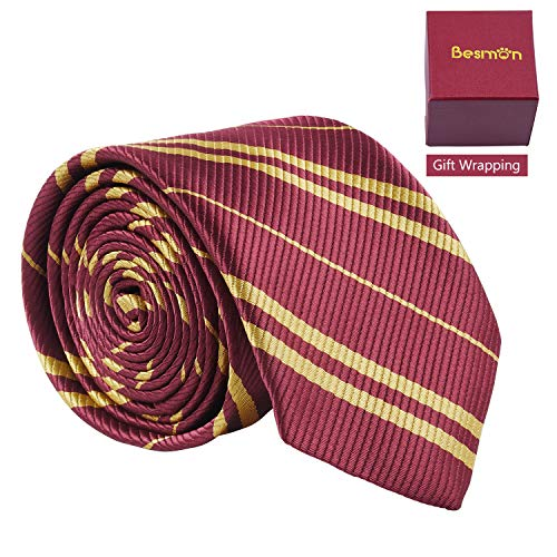 Besmon Striped Tie for Cosplay|Magic Costume|Halloween|Christmas Party,As a Gift for Daily Use ()