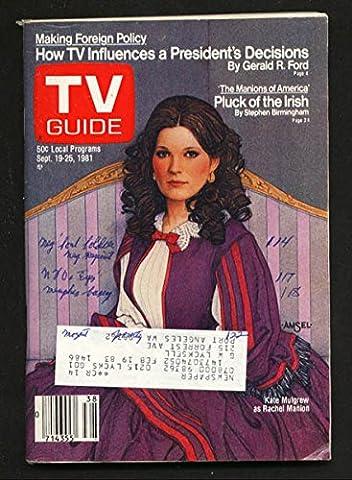 TV Guide September 19 1981- Western Washington State- Kate Mulgrew (Tv Guide September 1981)
