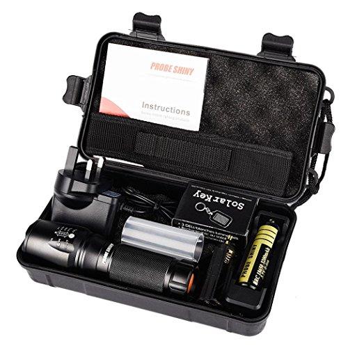 Anglewolf 5000 Lumens G700 X800 LED Zoom Military Grade Tactical Flashlight...