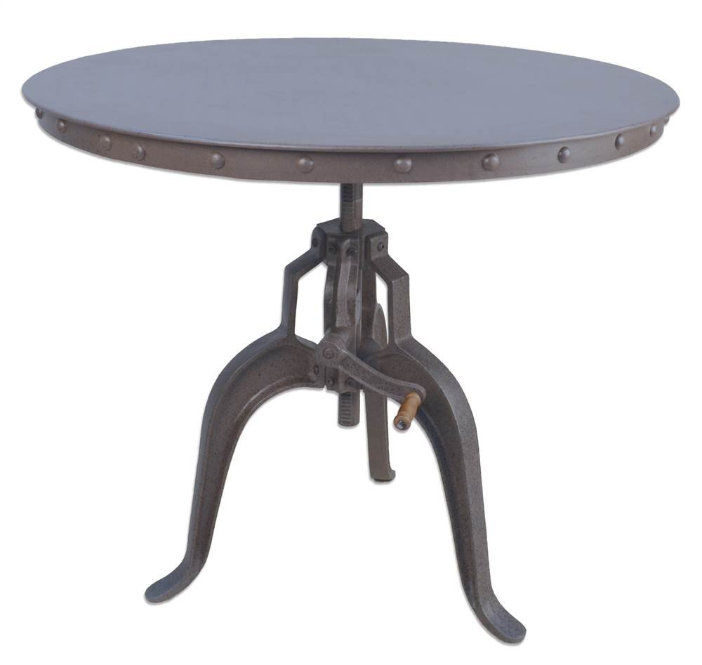 Adjustable Crank Table in Industrial Finish