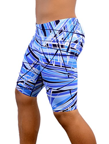 Adoretex Mens New Direction Swim Jammer - MJ012 - Blue - - Male Jammers