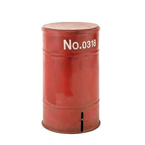Papelera de metal rojo H 57 cm Cargo