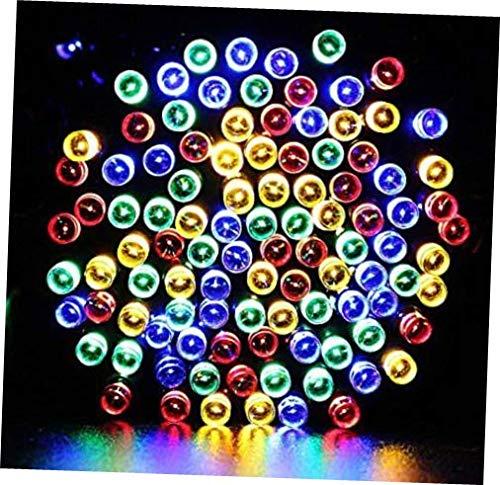 200 LED Solar Powered String Garden Fairy Lights Multi Colour Outdoor Party Xmas