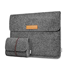 """Inateck MacBook Pro 13 Case 2017 & 2016 (A1706/A1708)/ Microsoft New Surface Pro 2017/ Surface Pro 4/ 3 Sleeve Case Cover, Compatible with iPad Pro 12.9"""" - Dark Gray"""