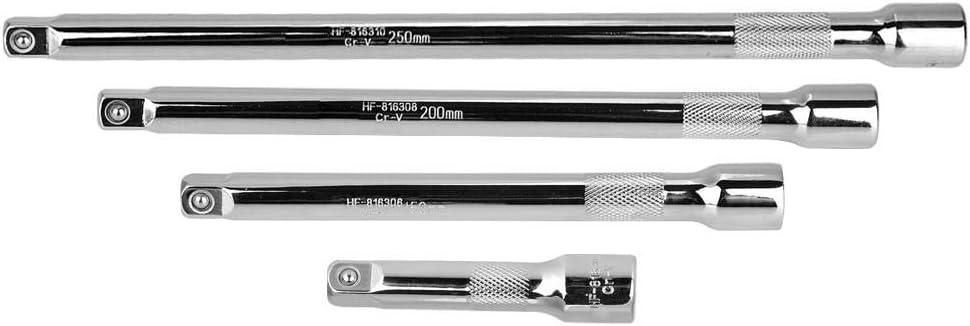 barre dextension en acier au chrome-vanadium pour barre dextension /à base de rochet base Barre dextension extra-longue KIMISS de 3//8 pouce