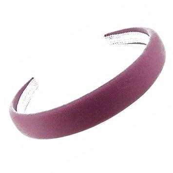 """Dark Navy Blue Velvet Feel Alice Hair Band Headband 2.5cm Wide 1/"""""""