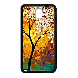 Tony Diy Abstract colorful tree painting cell phone case cover for l2vD7io1DVo Samsung Galaxy Note3