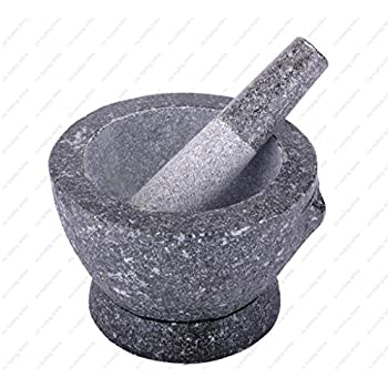 Stone (Granite) Mortar and Pestle, 7 in, 2+ cup capacity